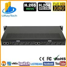 Экономичный 1U стойка 8 каналов H.264 HDMI кодировщик HDMI к HTTP RTSP RTMP HLS UDP конвертер H.264 IP видео кодировщик