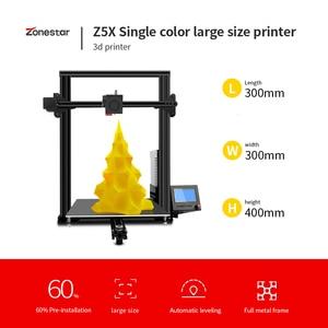 Zonestar z5x grande opção de tamanho dupla extrusora mistura automática cor completa metal moldura alumínio impressora 3d kit diy baixo preço|Impressoras 3D| |  -