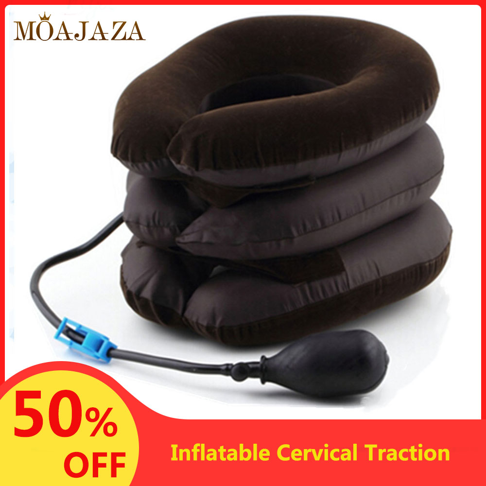 3 Layer Cervical Traction Collar Neck Brace Inflatable Drop Shipping Spine Pain Relief Neck Stretcher Posture Corrector