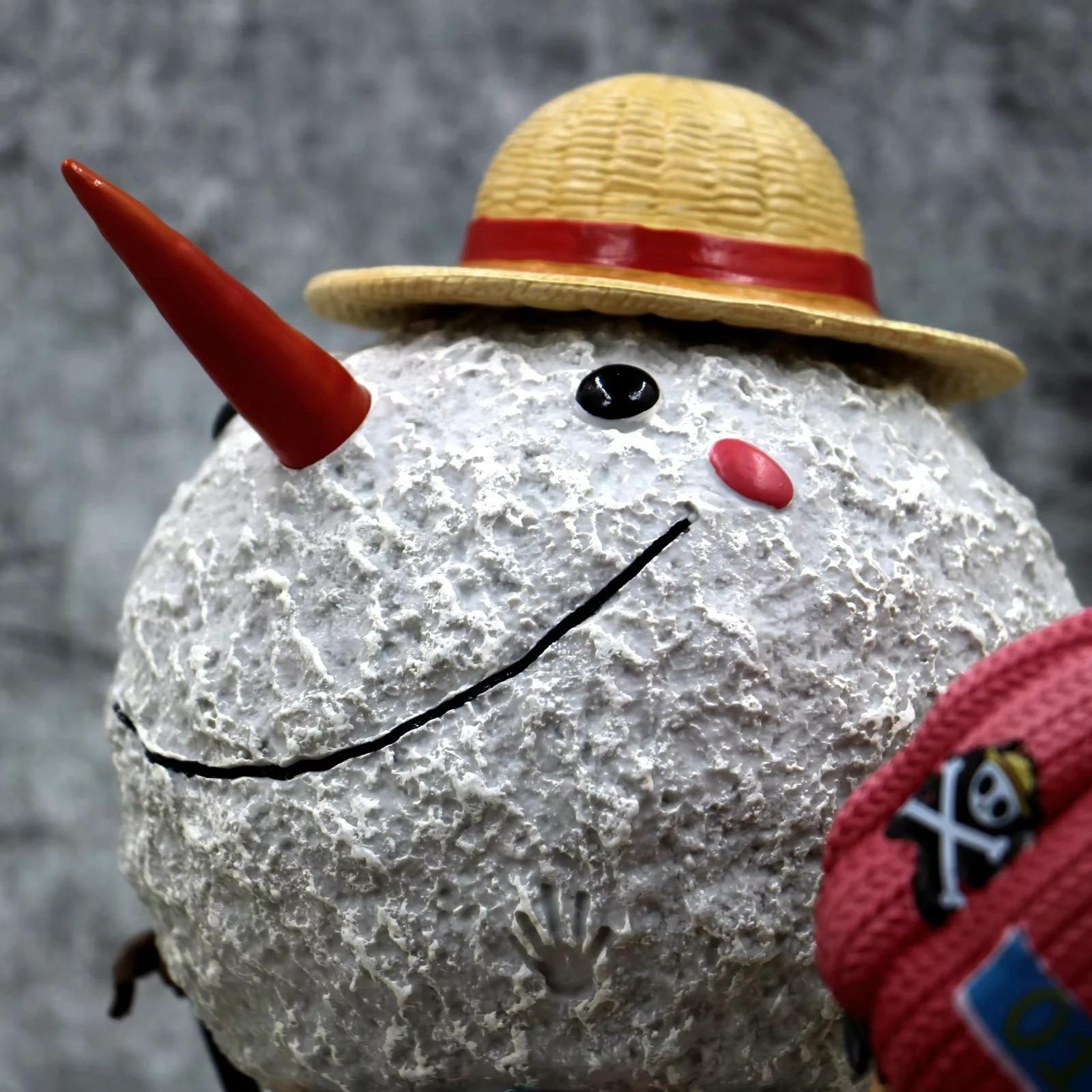 X051 4 m hight Opblaasbare sneeuwpop hoed, opblaasbare Kerst decoratie, opblaasbare sneeuwman met LED Licht - 6