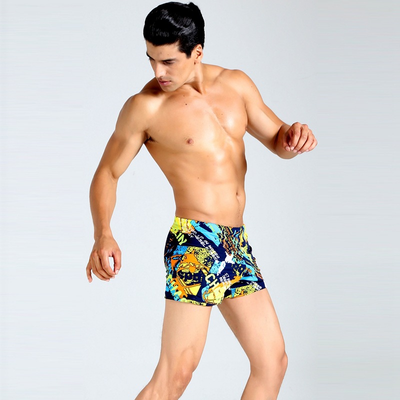 Swimming Trunks 2019 New Style MEN'S Swimming Trunks Fashion Printed Boxer Plus-sized Beach Temperature Quan Yong