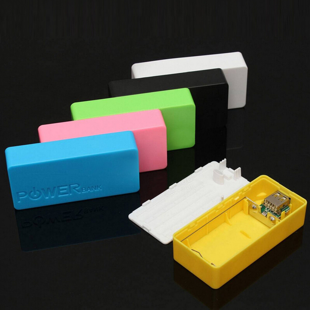 5600mAh 2X 18650 USB Power Bank Battery Charger Case DIY Box For iPhone For Sumsang Xiaomi Phone High quality drop shipping