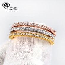 Lxoen цветное яркое простое роскошное обручальное кольцо с цирконием