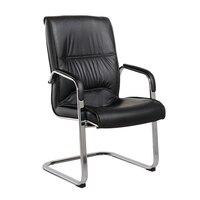 椅子背もたれスタッフコンピュータチェア会議オフィスチェア弓型パーラー回転椅子固定アームレスト麻雀革椅子