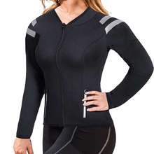 Women Body Shaper Gym Hot Sweat Weight Loss Elastic Corest Spring Autumn Solid Color Long-Sleeved Outwear