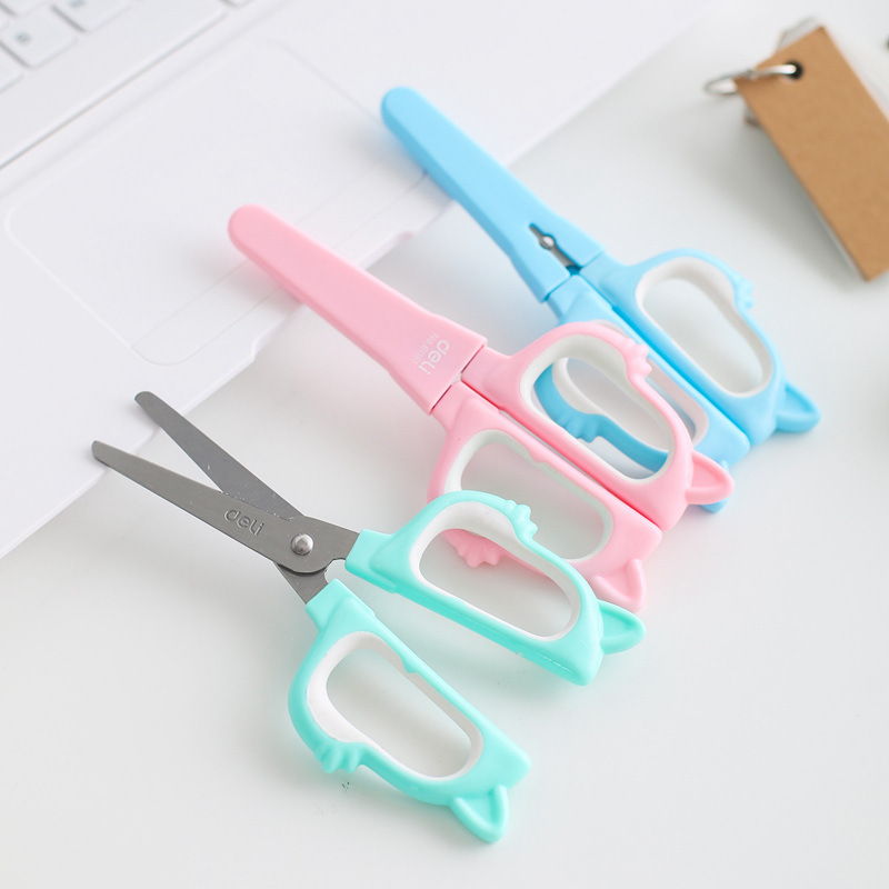 Deli 6061 Scissors Office Scissors With Protective Case Stationery Handmade Paper Cutting Card Paper Cutting Paper Tailoring Too