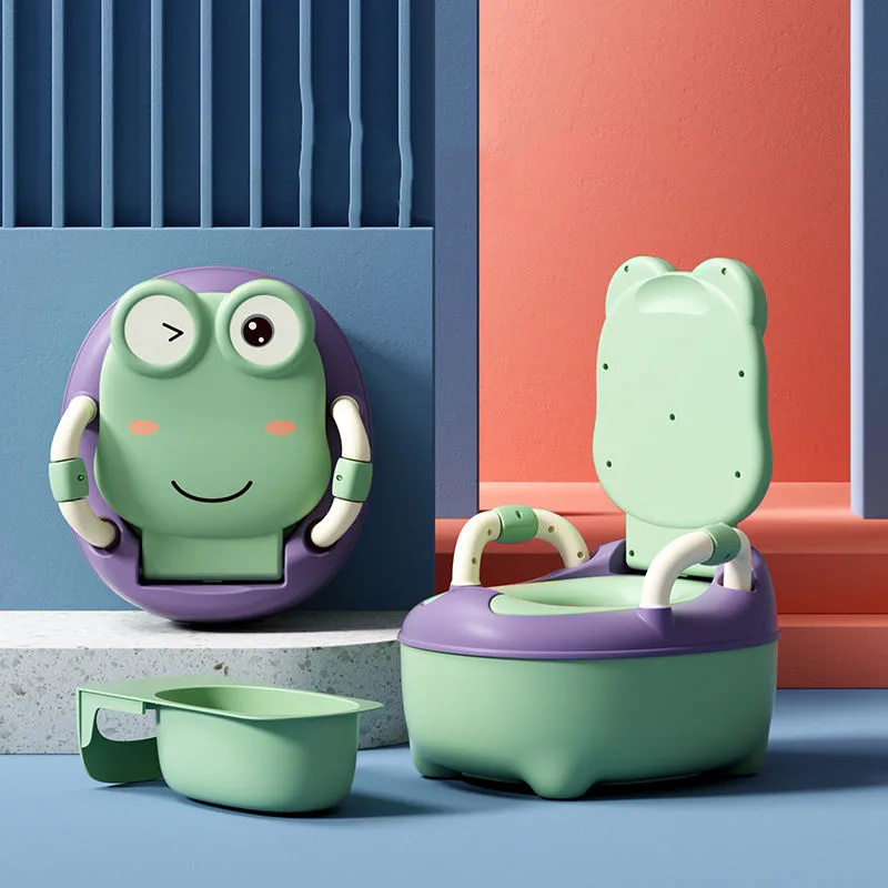 Baby Toilet Large Cartoons Frog Portable Travel Baby Potty Child Pot Training Girls Boy Potty Kids Toilet Seat Children's Toilet