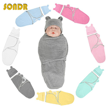SONDR Muslin Swaddle Newborn Organic Cotton Blanket Extract Envelope Baby Sleeping Things Bedding for Boys&Girls with a Hat NEW