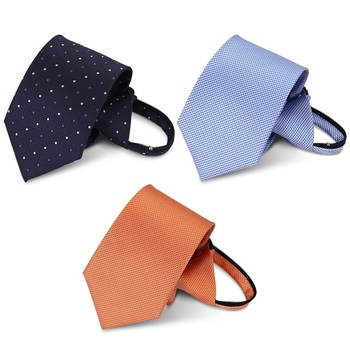 High Quality 2019 New Fashion Ties Men Business Casual Zipper 8cm Tie Wedding Suit Ties for men Designers Brand with Gift Box