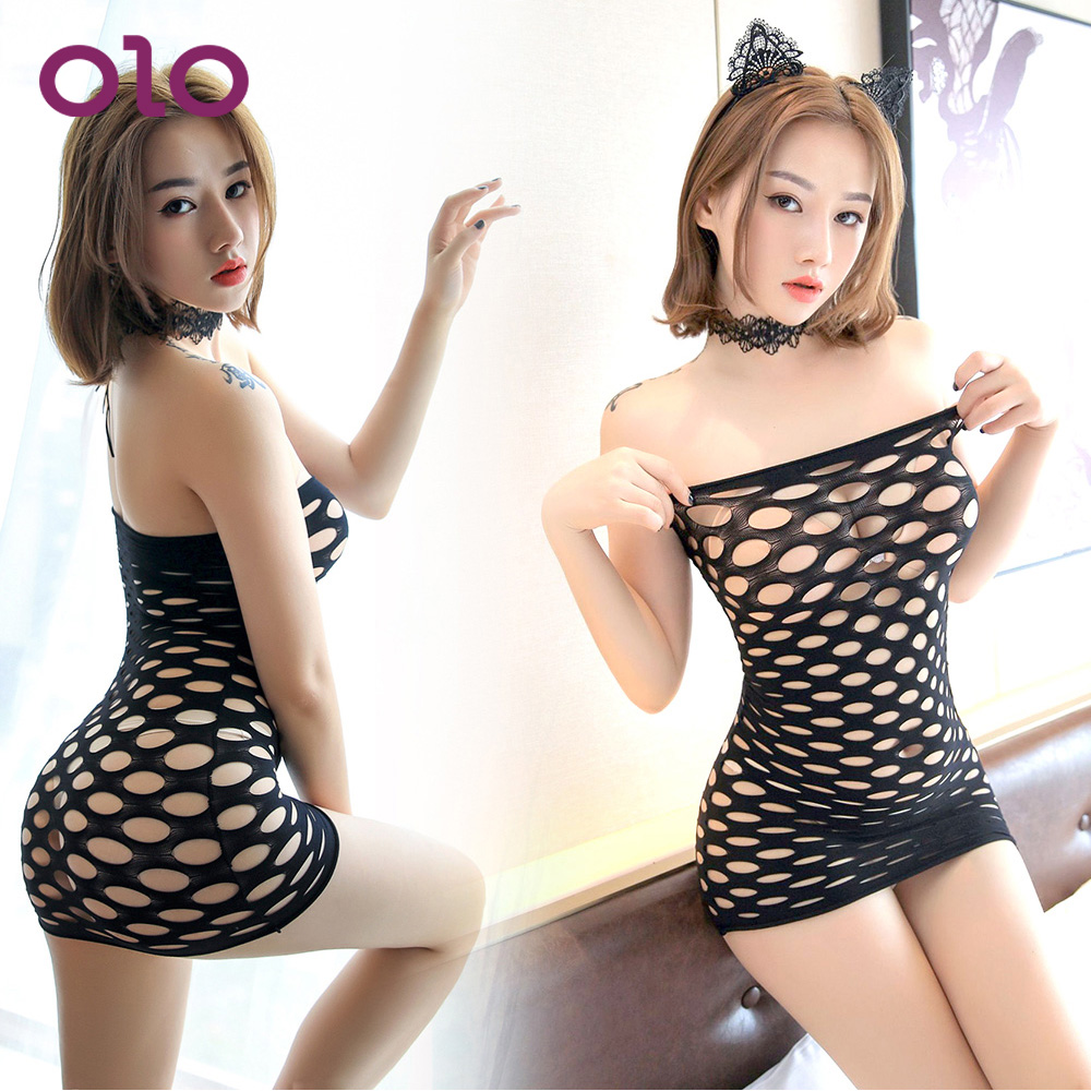 OLO Erotic Jumpsuit Full <font><b>Sexy</b></font> Lingerie Openwork Hot Erotic Lingerie Sex Costume Erotic Sex Appeal Net <font><b>Dress</b></font> <font><b>Adult</b></font> Products image
