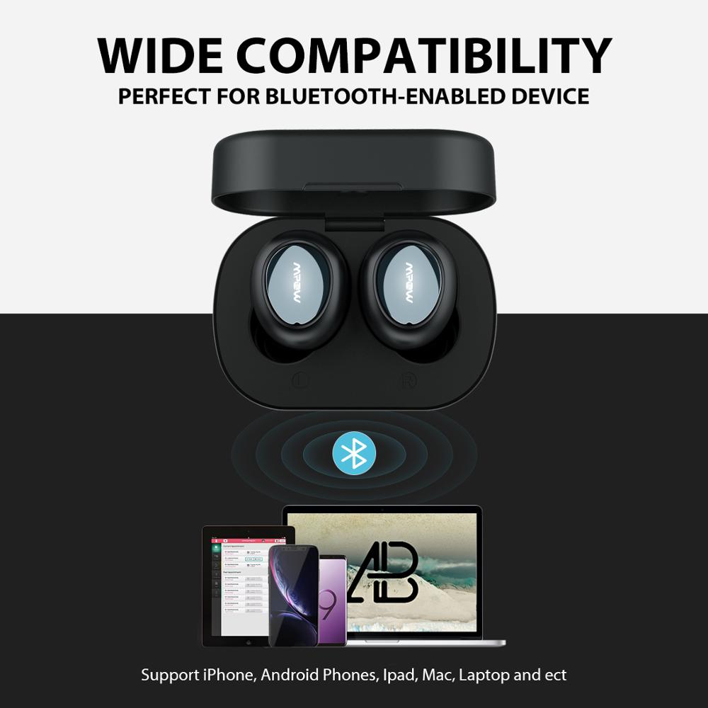 Image 5 - Mpow T2 Wireless Earbuds Bluetooth 5.0 In ear Stereo TWS Earphones Mini Portable Earpieces With Built in Mic For iPhone AndroidBluetooth Earphones & Headphones   -