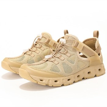 Summer Ultralight Mesh Breathable Upstream Aqua Shoes Non-slip Quick Dry Beach Wading Shoe Men Outdoor Hiking Fishing Shoes