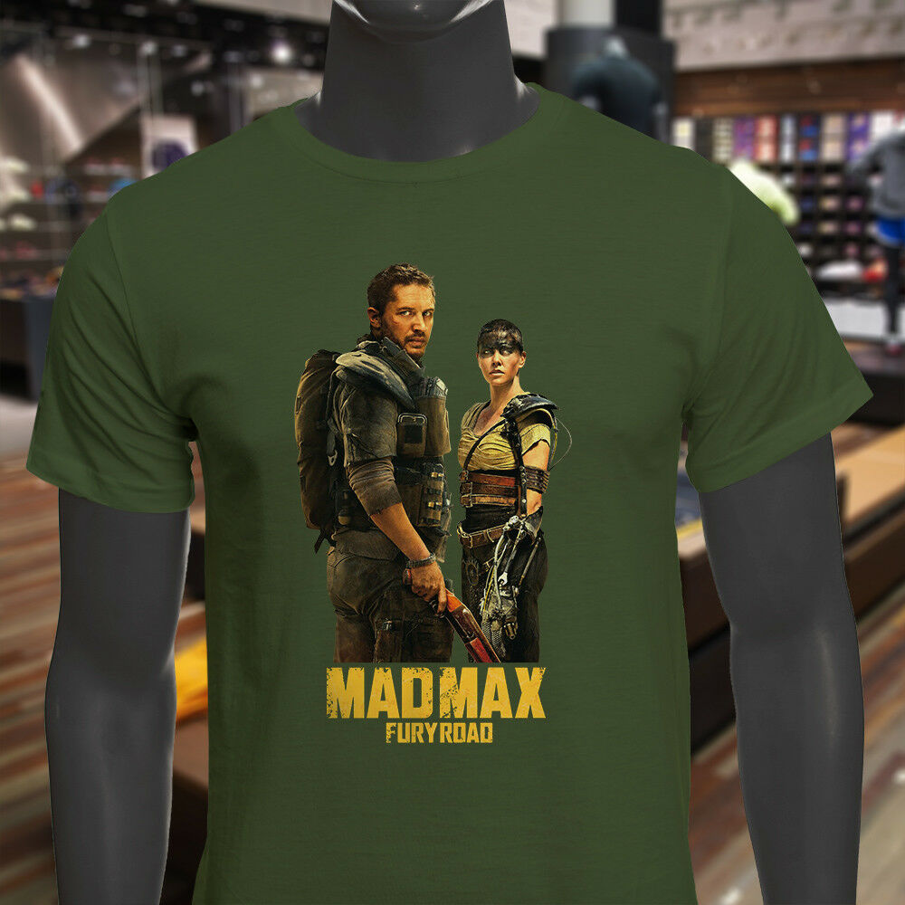 Action Movie Mad Max Fury Road 2015 Mens Military Green T-Shirt Male Best Selling T Shirt image