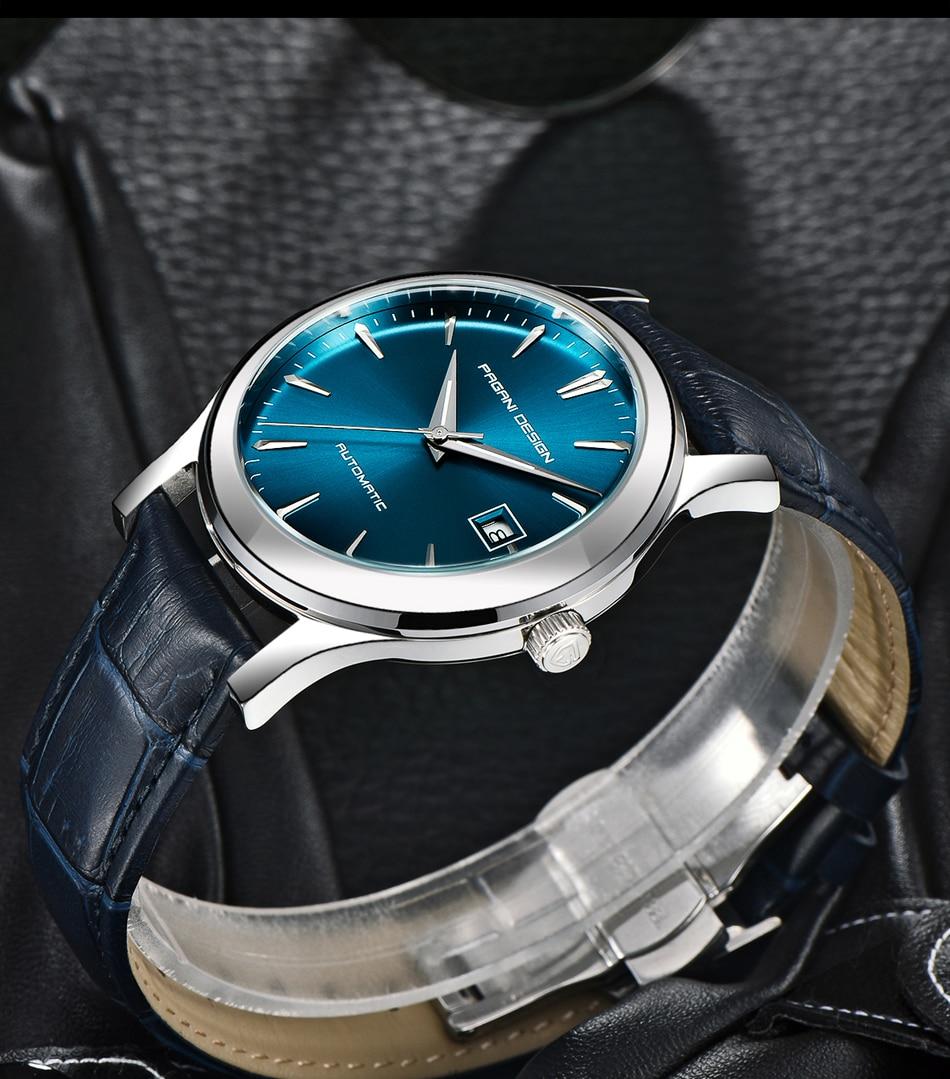 marca de luxo couro genuíno relógio automático