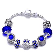 Fashion Women Bracelet Luck Owl Beads With Silver Plated Snake Chain Charm Bracelet Fine Jewelry Accessories shiny eyeglass brass chain spectacle retainer electro plated with silver embedded with black acrylic beads