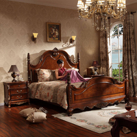 Wood bedroom furniture 1.8 king bed and 1.5 queen bed WA623