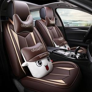 Image 1 - HLFNTF High quality linen Universal car seat cover for SEAT LEON Ibiza Cordoba Toledo Marbella Terra RONDA car accessories+free