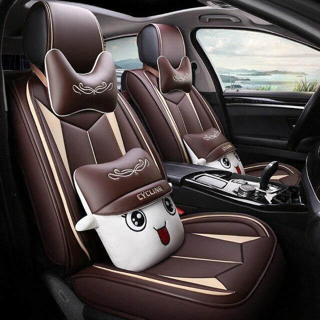 HLFNTF High quality linen Universal car seat cover for SEAT LEON Ibiza Cordoba Toledo Marbella Terra RONDA car accessories+free