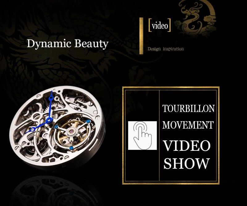 Nova guanqin tourbillon original relógio masculino marca