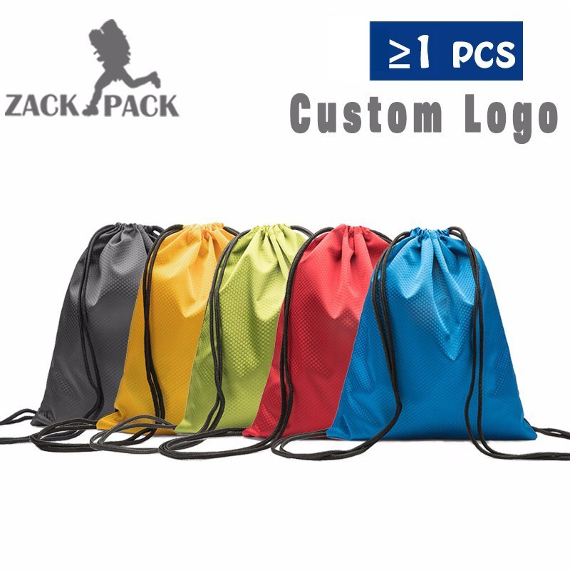 4pcs Sports Custom Logo Drawstring Bags Waterproof Oxford Backpack Storage Pull Rope Small Bag For Boy Girls Oxford Bags