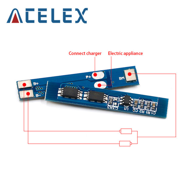 2S 3A Li ion Lithium Battery 7.4v 8.4V 18650 Charger Protection Board bms pcm for li ion lipo battery cell pack