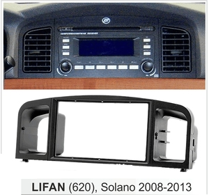 Image 2 - Car Radio Fascia for LIFAN (620),Solano 2008 2013 Dash Kit Face Plate Trim Install Stereo Panel CD DVD Facia Cover Frame