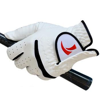 Sportowe na świeżym powietrzu rękawice golfowe mężczyzn z lewej i prawej strony miękkie skórzane rękawiczki golfowe miękkie oddychające sportowe akcesoria do golfa D0629 tanie i dobre opinie Prawdziwej skóry Left Hand Right Hand Soft Comfortable Breathable Platoon Is Wet Odor-Proof Men S Golf Glove Pure Sheepskin Soft Left Hand Anti-Skidding Gloves