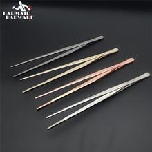 30cm prata/cobre/ouro/preto aço inoxidável cozinha & barra pinça comida pinças cozinha cozinhar pinças médicas