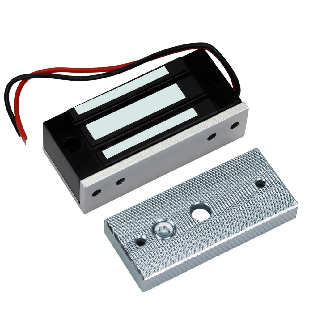 Электромагнитный замок 60 кг 12V Электронный Электрический магнитный замок шкафа мини дверные замки 132lbs усилие зажима для доступа