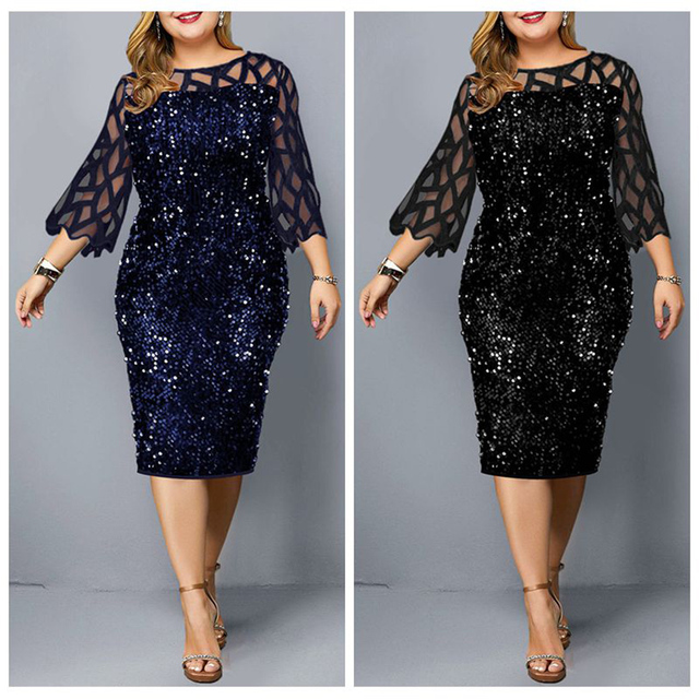 Sexy Plus Size Women's Party Dress Birthday Outfit 6