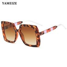 Очки солнцезащитные женские квадратные в толстой оправе uv400