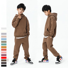 Teen Spring Boys Clothing Set 2021 Winter New Casual Thicken Hoodie Tops Sport Pant 2 Pcs Suit for Boys Clothes Kids Outfits 8 Y
