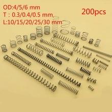 2pcs 3mm WD compress spring pressure springs compressed elastic coils 32mm OD