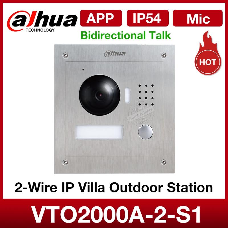 Dahua Original VTO2000A-2-S1 video intercom 2-Wire IP Villa Outdoor Station video doorbell waterproofm Night vision Bidirectiona