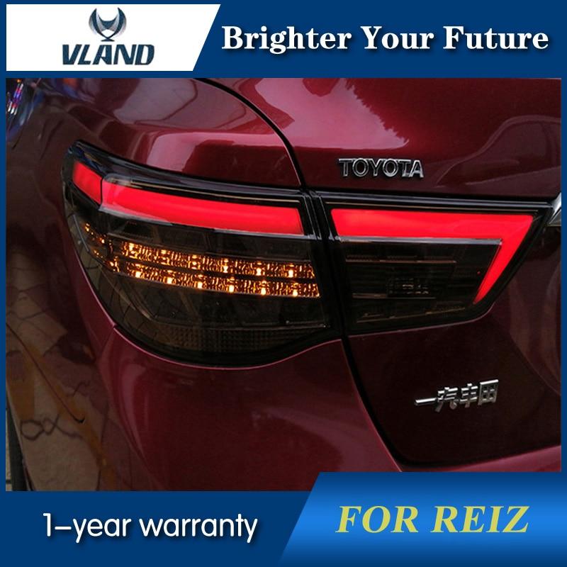 Vland รถด้านหลังไฟสำหรับโตโยต้า Reiz MARK X ไฟท้าย 2010-2017 ไฟท้าย