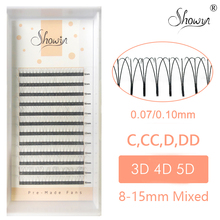 Tools C/D Curl Mink Lash Russian Volume Short Stem Pre made Fans 5D Extension 0.07 0.10mm Thickness Pre-Fan
