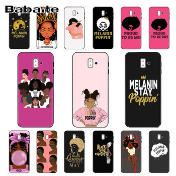 coque for A8 2bunz Melanin Poppin Aba Soft Silicone TPU Phone Cover For samsung Galaxy j6 plus A6 A8 A9 A10 A30 A50 Mobile Cover image