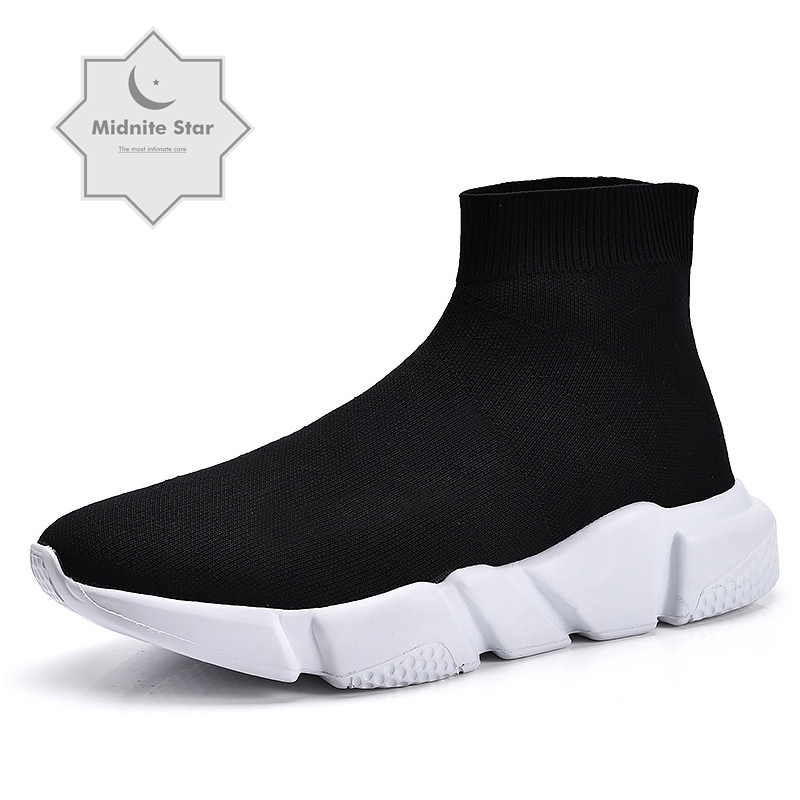 Sock Footwear Flats Platform-Shoes Couple High-Top Womens Casual Fashion Walking New