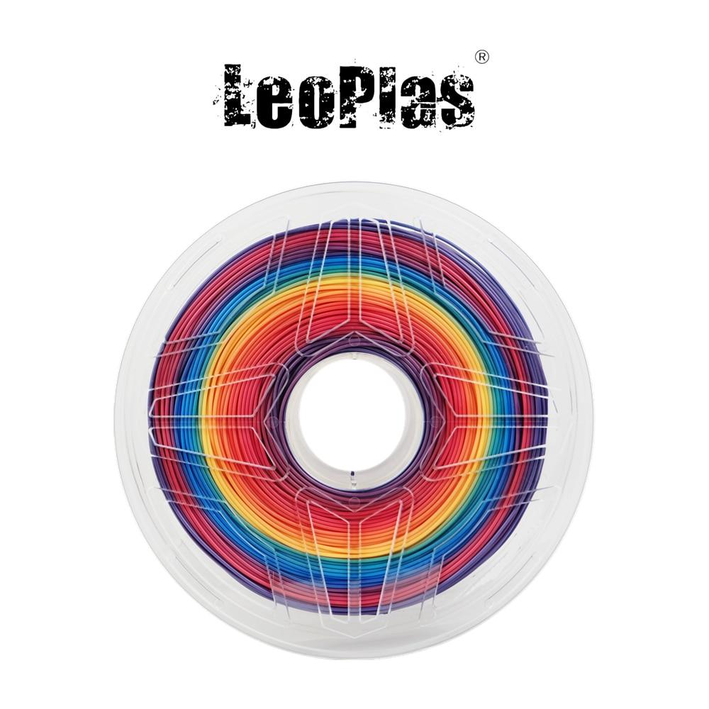 USA Spain China Warehouse 1 75mm 1kg Multicolor Rainbow PLA Filament FDM 3D Printer Consumables Pen