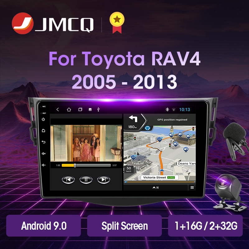 JMCQ Android 9,0 2 + 32G DSP Auto Radio Multimidia Video Player Navigation GPS Für <font><b>Toyota</b></font> RAV4 <font><b>Rav</b></font> <font><b>4</b></font> 2005-2013 2din 2 din head unit image