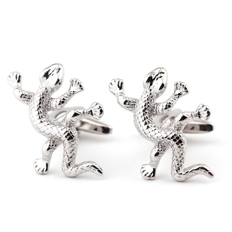House Lizard Cufflinks Wholesale&retail Novelty Animal Design Quality Brass Material Best Gift For Men