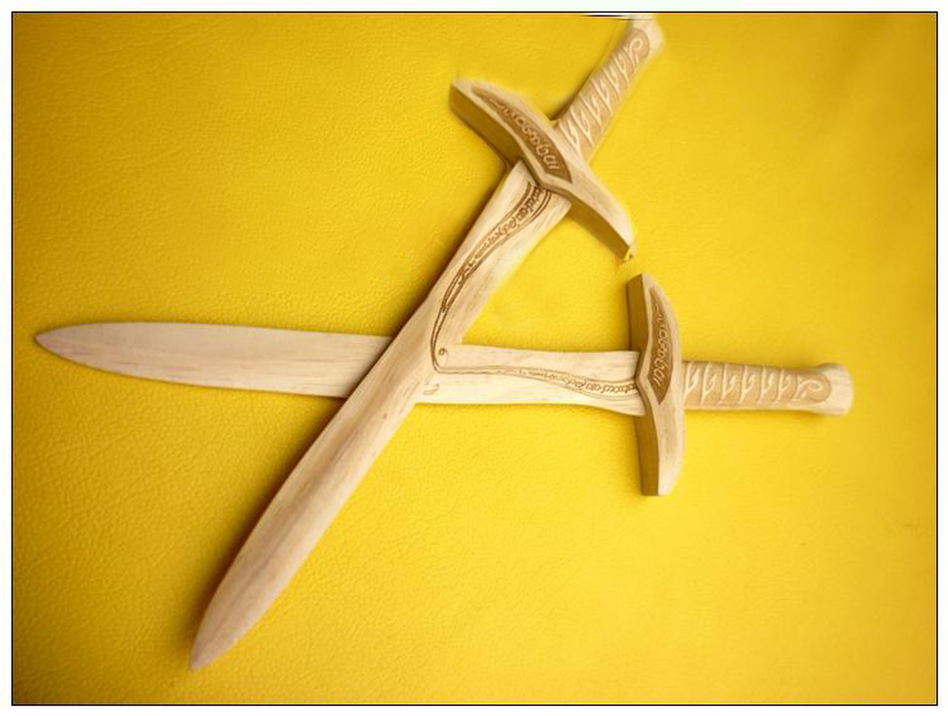 Children's Toy Wooden Sword High-grade And Exquisite Collection Props Performing Cosplay Props A Birthday Present Gift Ideas