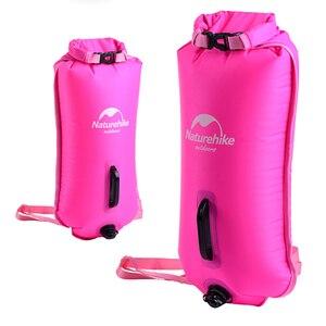 Boya inflable de seguridad para natación, bolsa impermeable, bolsa seca y cinturón de cintura para canotaje, pesca descenso de ríos y natación