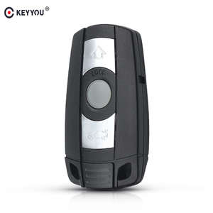 KEYYOU 3 Buttons Car Remote Key Shell For BMW 1 3 5 6 Series Smart Key X5 X6 M5 M6 Key Case Cover Replacement Fob Keyless(China)