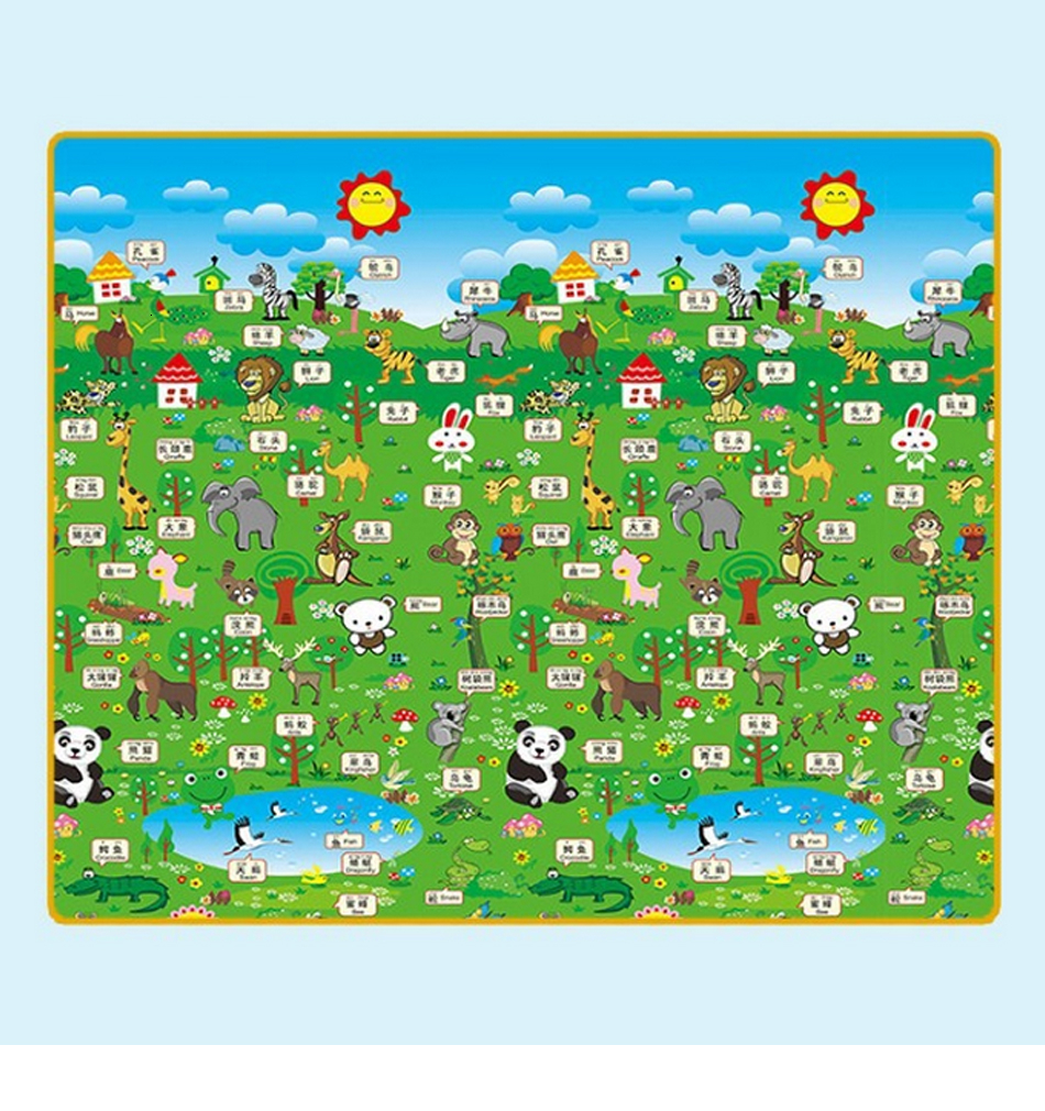 H499a9c3f2267432e9c2128cd4baab392v Baby Play Mat 0.5cm Thick Foldable Crawling Mat Double Surface Baby Carpet Rug Cartoon Developing Mat for Children Game Playmat