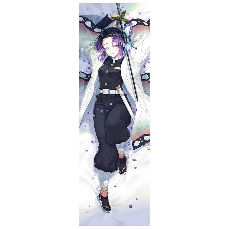 Design Dakimakura Demon Slayer: Kimetsu No Yaiba Anime Kochou Shinobu Dakimakura Hugging Pillow Case Kamado Nezuko