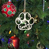Dog Paw Christmas Ornament 1