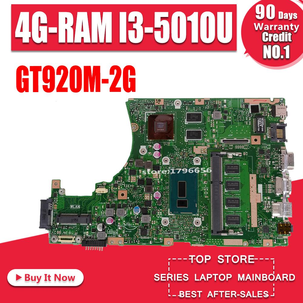 X455LJ Laptop Motherboard For ASUS X455LJ X455LD Test Original Mainboard 4G-RAM I3-5010U GT920M-2G LVDS/EDP