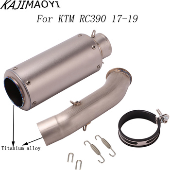 For KTM DUKE 390 RC390 DUKE 125 RC 390 DUKE 250 RC125 Motorcycle Exhaust Pipe And Titanium alloy Link Pipe Full System