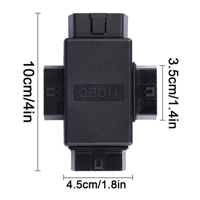 16 Pin OBD2 Car Connector Plug 1 Male To 3 Female ELM327 Multi-function Plug Diagnostic Cables Tool Car Connector Adapter